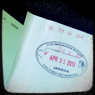 Jamaica entry stamp