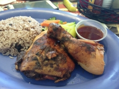 Jerk chicken from Margaritaville at the Montego Bay airport.